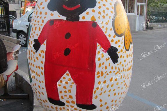 ماکت تخم مرغ با فایبرگلاس