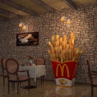 دکور رستوران ها و فست فود