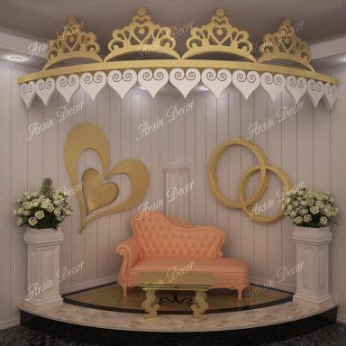 طراحی دکور جایگاه عروس و داماد
