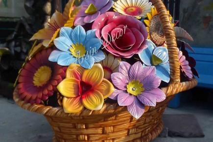 ماکت سبد گل و میوه