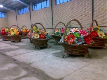 ماکت فایبرگلاس سبد گل و میوه