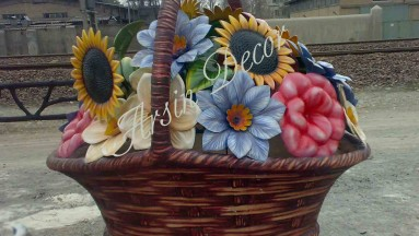 ماکت فایبرگلاس سبد گل