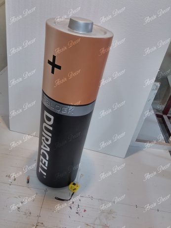 ماکت تبلیغاتی باتری قلمی