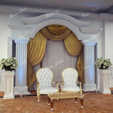 دکور جایگاه عروس و داماد