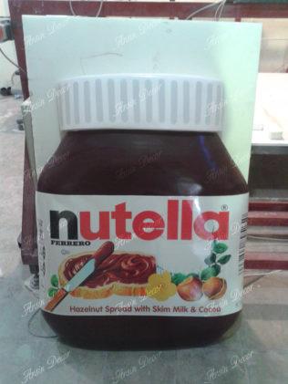 ماکت شیشه شکلات نوتلا