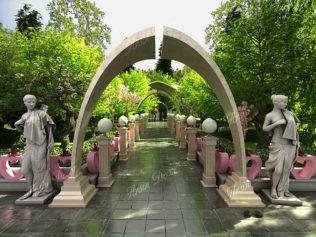 دکوراسیون باغ تالار