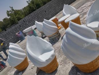 صندلی بستنی قیفی