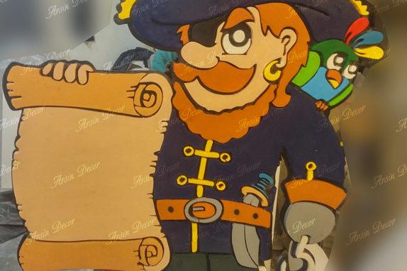 ساخت ماکت تبلیغاتی دزد دریایی