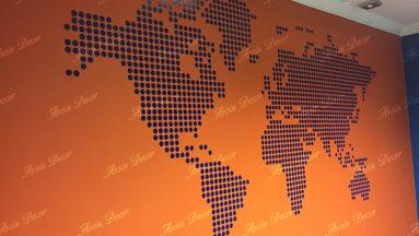 دکور نقشه جهان