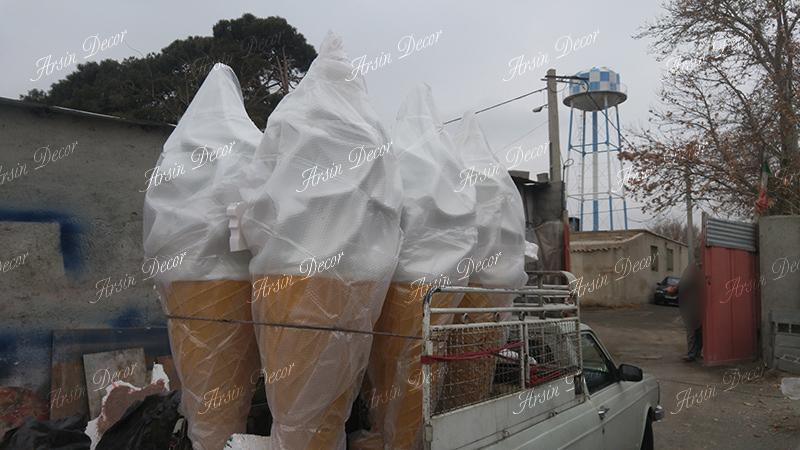 طراحی داخلی بستنی فروشی